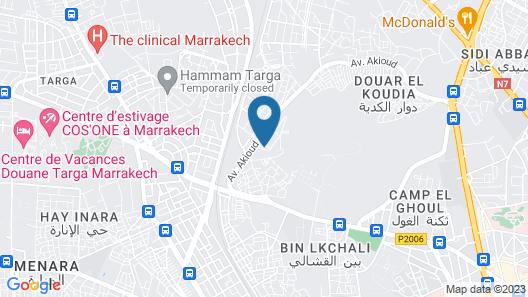 Résidence Abwab Marrakech Map