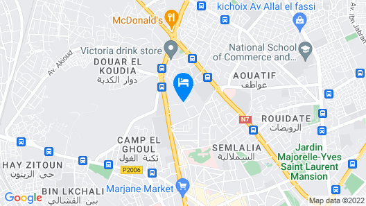 Hotel Marrakech Le Semiramis Map