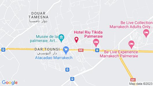 La Maison Blanche - Marrakech Map