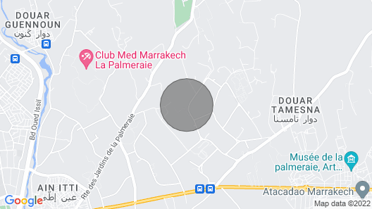Villa- Marrakech Palmaraie,with Swimming Pool and Tennis Court Map