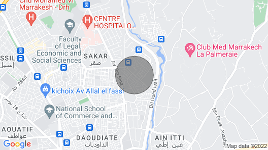 Dara Amana - A Beautiful House in the Center of Marrakech Map