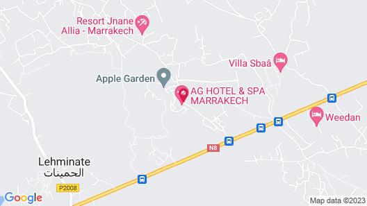 AG Hotel & Spa Marrakech Map