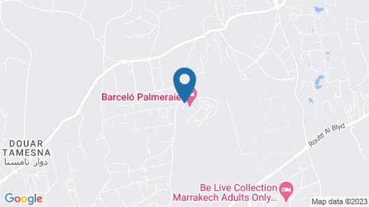 Barcelo Palmeraie Map