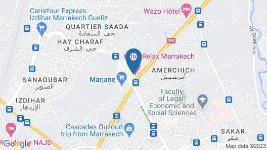 Relax Hotel Marrakech Map