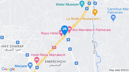 Wazo Hôtel Map
