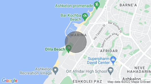 Ashkelon marina beach - Sea4U Apartments Map