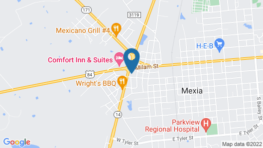 Inn At Mexia Map