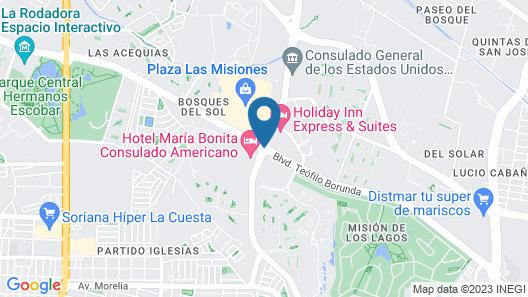 Hotel Maria Bonita Consulado Americano Map