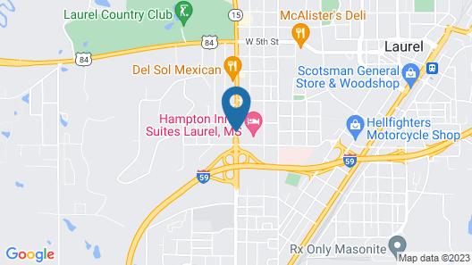 Best Western Laurel Inn Map