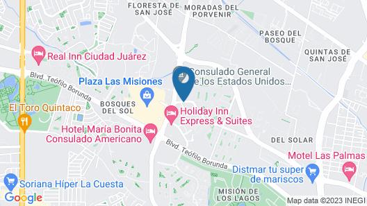 ibis Juarez Consulado Map