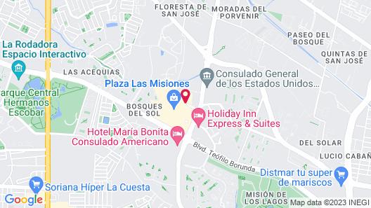 Extended Suites Ciudad Juarez Consulado Map
