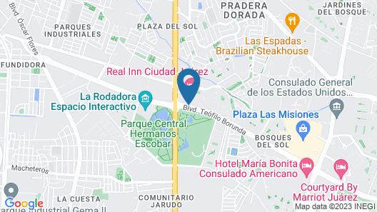 Real Inn Ciudad Juárez Map
