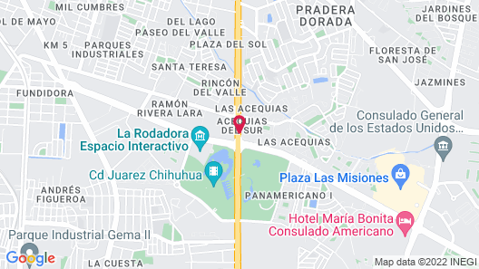 Krystal Urban Ciudad Juárez by US Consulate Map