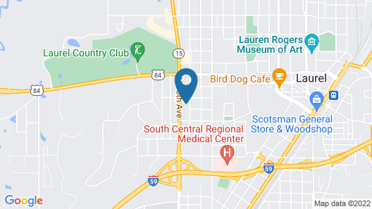 Super 8 by Wyndham Laurel Map