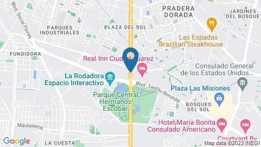 Holiday Inn Ciudad Juarez Map