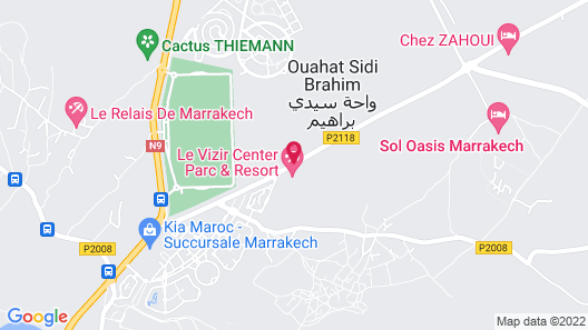 Le Vizir Center Parc & Resort Map