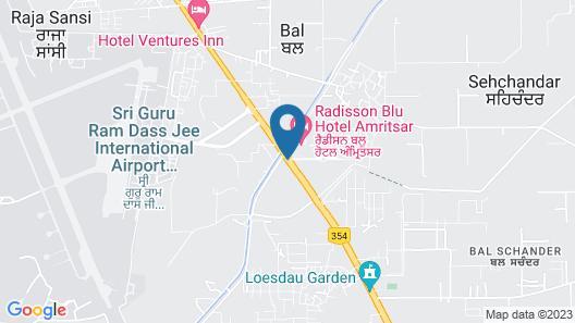 Radisson Blu Hotel Amritsar Map