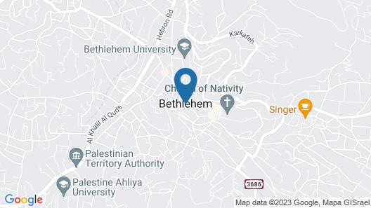 St. Vincent Guest House - Bethlehem Map
