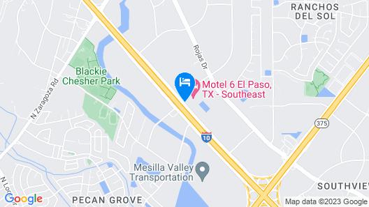 Motel 6 El Paso, TX - Southeast Map