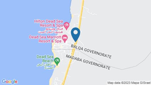 Grand East Hotel - Resort & Spa Dead Sea Map