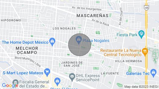 Departamento Sanitizado 5 Millas de Consulado Map