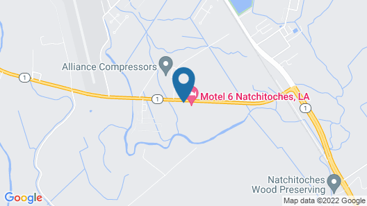 Motel 6 Natchitoches, LA Map