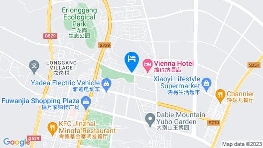 GreenTree Eastern Liuan Jinzai Lianhuashan Rd Map