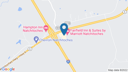 Comfort Suites Natchitoches Map