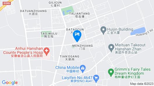 GreenTree Inn Maanshan Hanshan District Jiuwu Square Hotel Map
