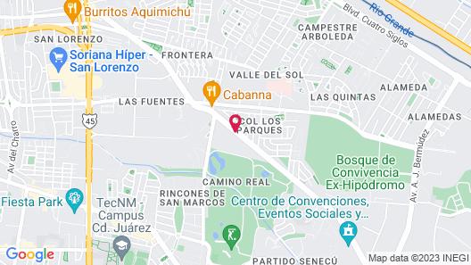 City Express Ciudad Juárez Map