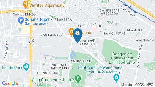 Hampton Inn Ciudad Juarez Map