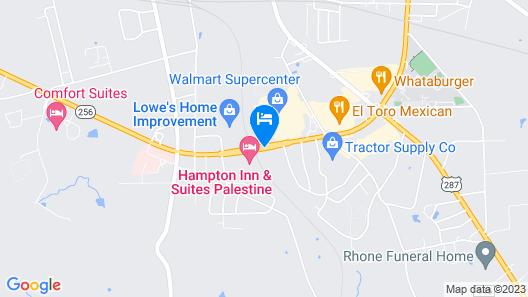 Hampton Inn & Suites Palestine Map