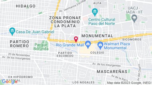 Hotel Lucerna Ciudad Juarez Map