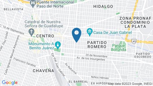 Los Cedros Hotel Inn Map