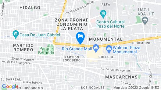 iStay Hotel Ciudad Juarez Map