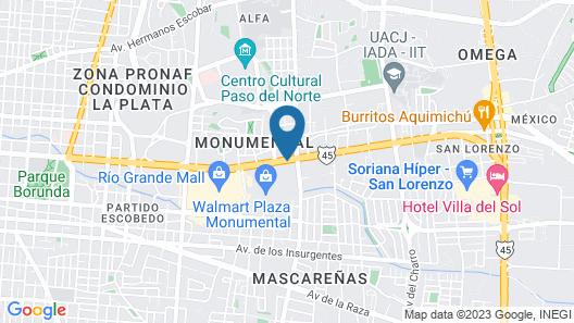 Hotel Suites el Paseo Map