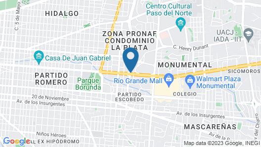 Fiesta Inn Ciudad Juarez Map