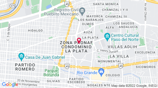 Gamma Ciudad Juarez Map