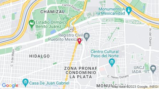 Hotel Colonial Juarez Map