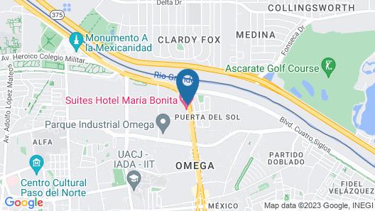 Maria Bonita Business Hotel & Suites Map