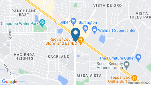 Quality Inn Airport East Map