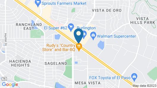 Days Inn by Wyndham El Paso Airport East Map