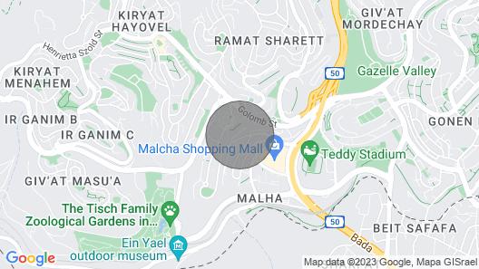 Breathtaking Vila With Pool in Jerusalem Center Map