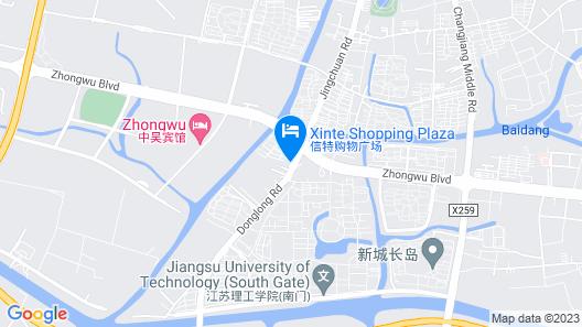 Greentree INN Changzhou Zhongwu Avenue Jiangsu UNI Map