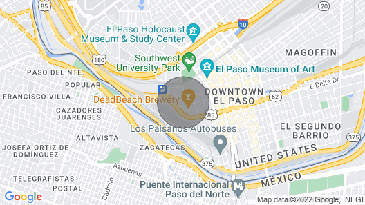 Redesigned 2 Bedroom Apartment in Downtown El Paso Across Baseball Stadium Map