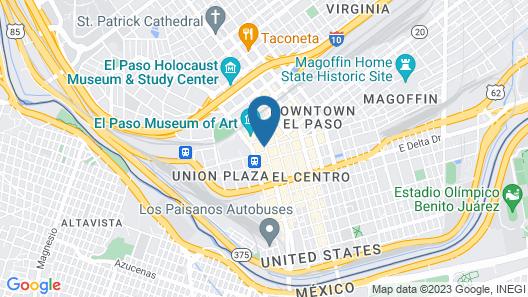 Hotel Paso Del Norte, Autograph Collection Map