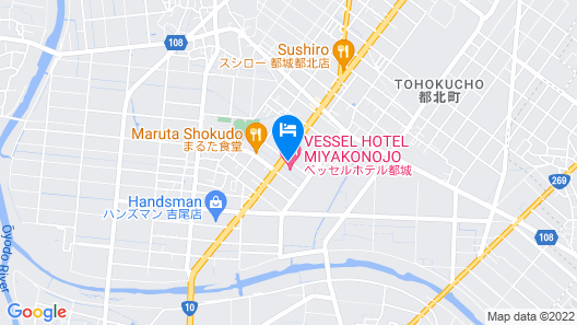 Vessel Hotel Miyakonojo Map