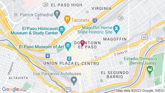 Aloft El Paso Downtown Map