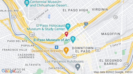 Courtyard by Marriott El Paso Downtown/Convention Center Map