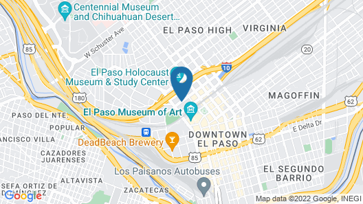 DoubleTree by Hilton El Paso Downtown Map